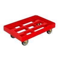 Plastikow wózek dolly 610x410mm czerwony