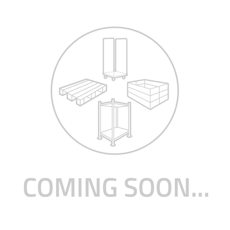 Wózek dolly do pojemników dystrybucyjnych Euronorm, metalowy, otwarte dno 830x620x180 mm