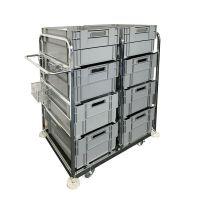 Wózek do komisjonowania,1085x700x1170 mm, zawiera 8 pojemników do sztaplowania