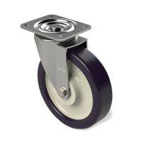 Zestaw kołowy skrętny fi 150 mm, PA, PU, 250 kg