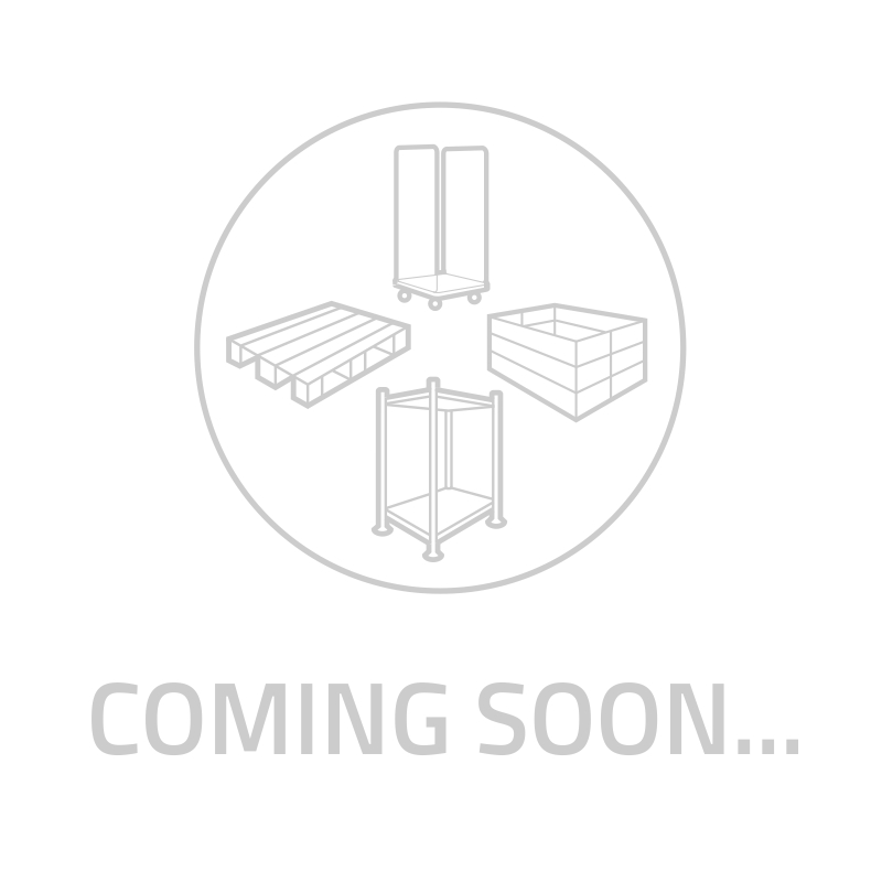 Skrzyniopaleta składana, 3 płozy, uchylna klapa 1220x820x928mm