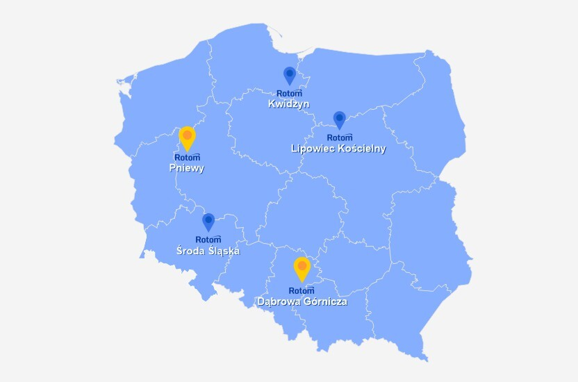 Nasze usługi i produkty bliżej Ciebie, czyli nowe oddziały Rotom Polska