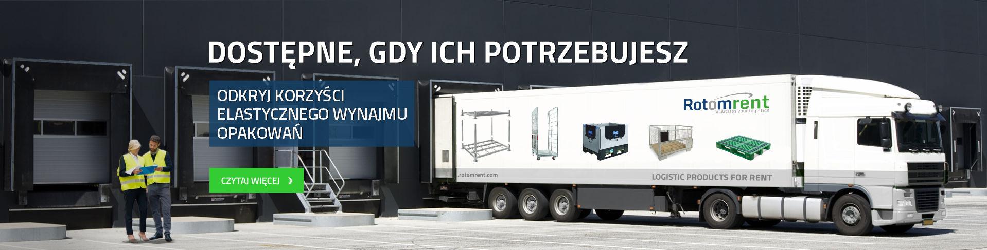 Wynajem opakowań logistycznych w całej Europie
