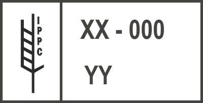 Oznaczenie ISPM15 na palecie drewnianej